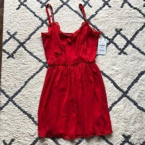Zara Flowy Red Dress